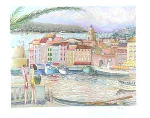 Lithograph Dilley - St tropez