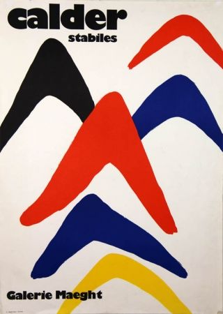 Lithograph Calder - Stabiles