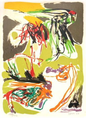 Lithograph Jorn - Stabisme Pastoral