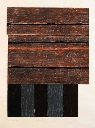 Woodcut Scully - Standing II