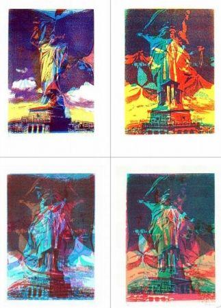 Screenprint Bury - Statue de la liberté, 8 variations