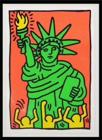 Screenprint Haring - Statue of Liberty