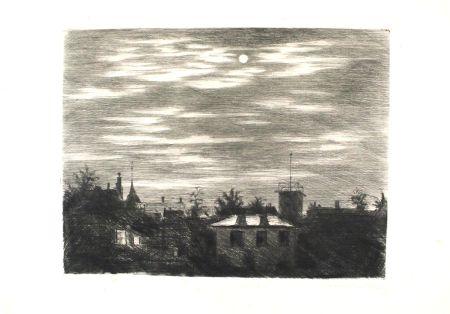 Etching Meid - Steglitzer Mondnacht