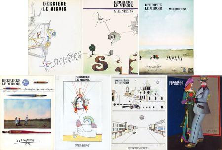 Illustrated Book Steinberg - STEINBERG. Collection complète des 7 volumes de la revue DERRIÈRE LE MIROIR consacrés à Steinberg (de 1953 à 1980).
