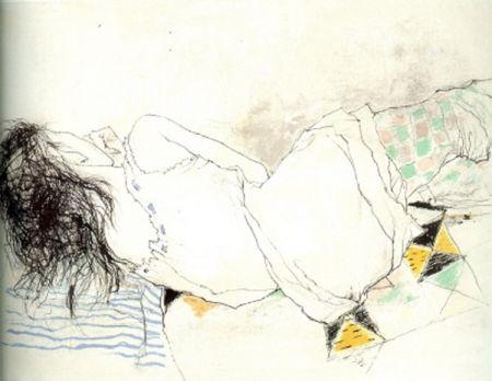 Lithograph Jansem - Stephanie au Collant Damier