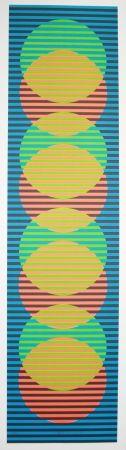 Lithograph Cruz-Diez - Stige 3