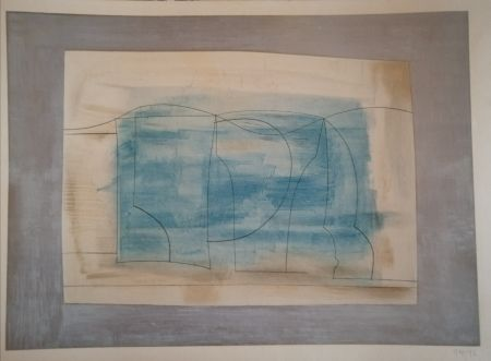 Lithograph Nicholson - Still Life