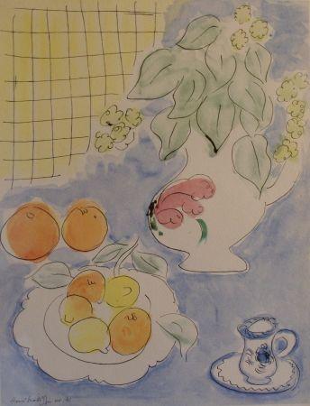 Lithograph Matisse - Still life