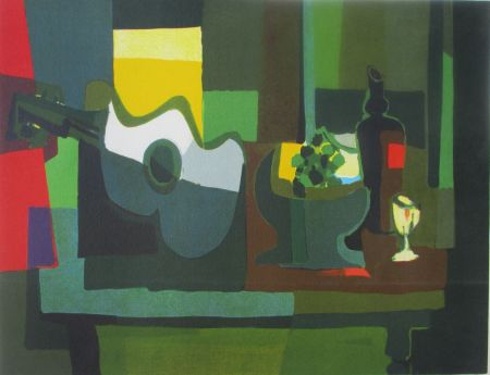 Lithograph Mouly - Still life
