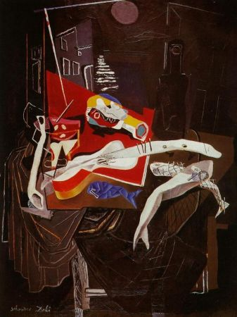 Multiple Dali - Still Life By The Light of The Moon Tapestry