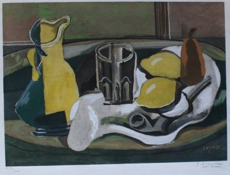 Collograph Braque - Still Life with Lemons and Pipe