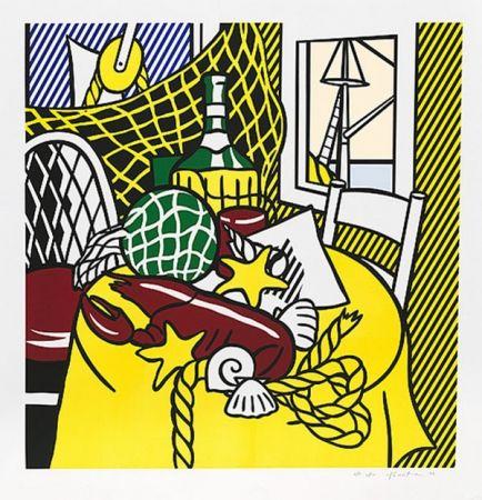 Screenprint Lichtenstein - STILL LIFE WITH LOBSTER