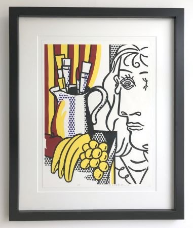 Screenprint Lichtenstein - Still life with Picasso