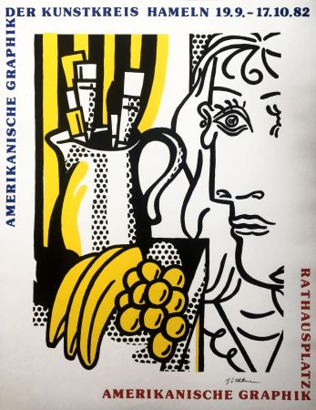 Screenprint Lichtenstein - 'Still Life with Picasso' Hand Signed Pop Art Poster Print