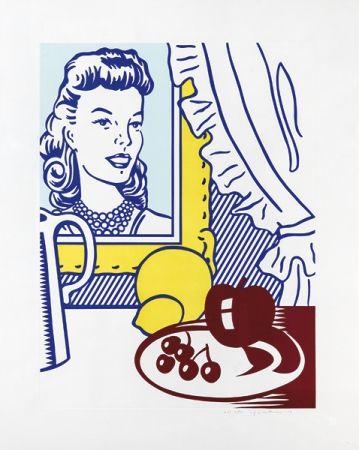 Lithograph Lichtenstein - Still Life with Portrait