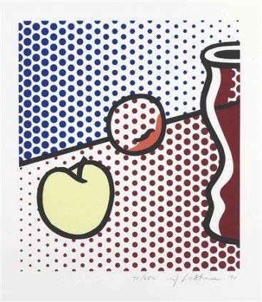 Screenprint Lichtenstein - Still Life with Red Jar