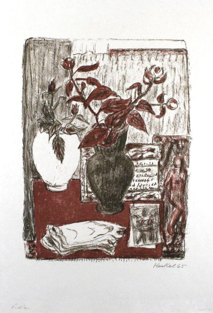 Lithograph Heckel - Stilleben