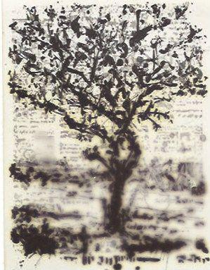 Etching Kentridge - Stone Tree II