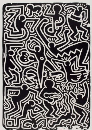 Lithograph Haring - Stones 5, from 5 works: stones.