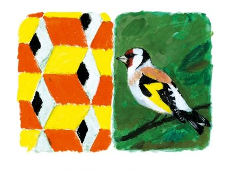 Carborundum Tilson - Stones of Venice Goldfinch Diptych
