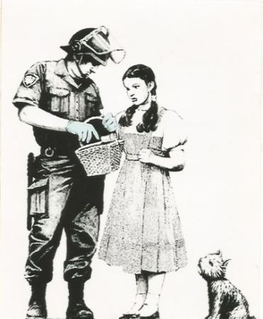 Screenprint Banksy - Stop and search