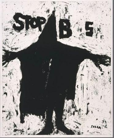 Lithograph Serra - Stop BS