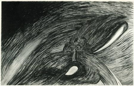 Etching And Aquatint Bourgeois - Storm at st honore