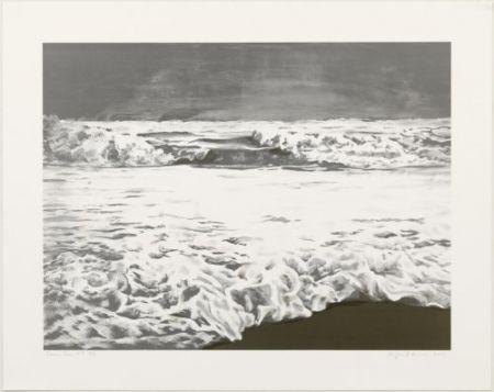 Lithograph Gornick - Storm sea