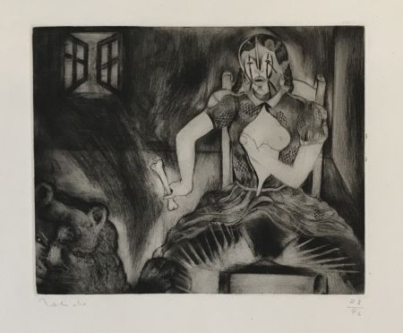 Etching Toledo - Story of Elena: Lion and Window