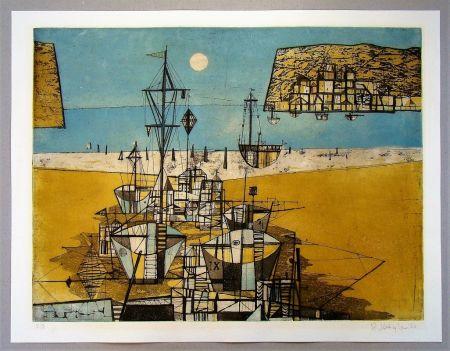 Etching And Aquatint Kügler - Strandbild- 1956