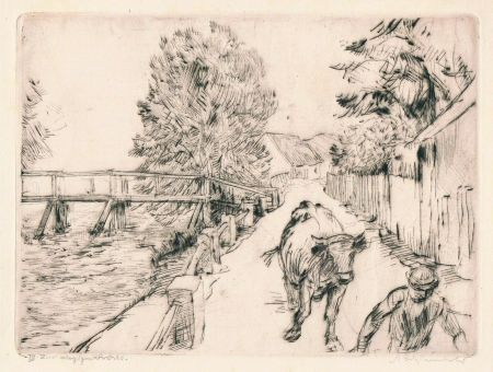 Drypoint Schinnerer - Strasse in Ottershausen