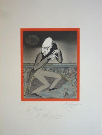 Lithograph Chemiakin - Stravinsky