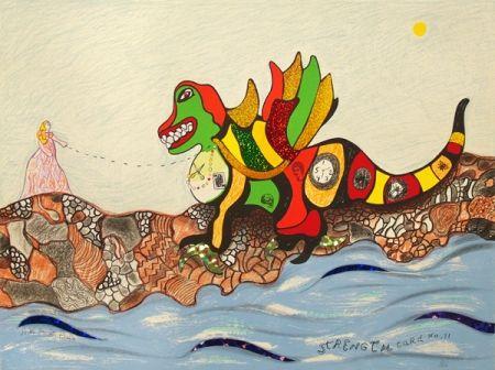Lithograph De Saint Phalle - Strength Card No.11
