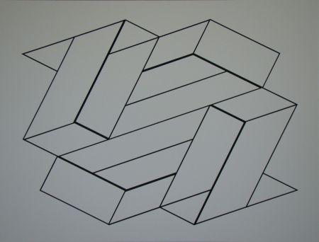 Screenprint Albers - Strukturale Konstellation