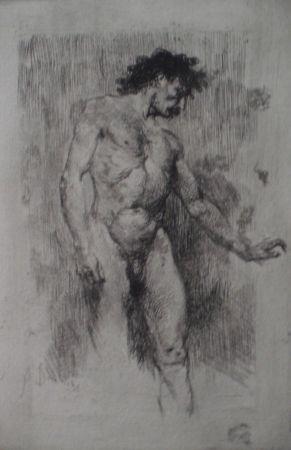 Engraving Bianchi - Studio di nudo maschile