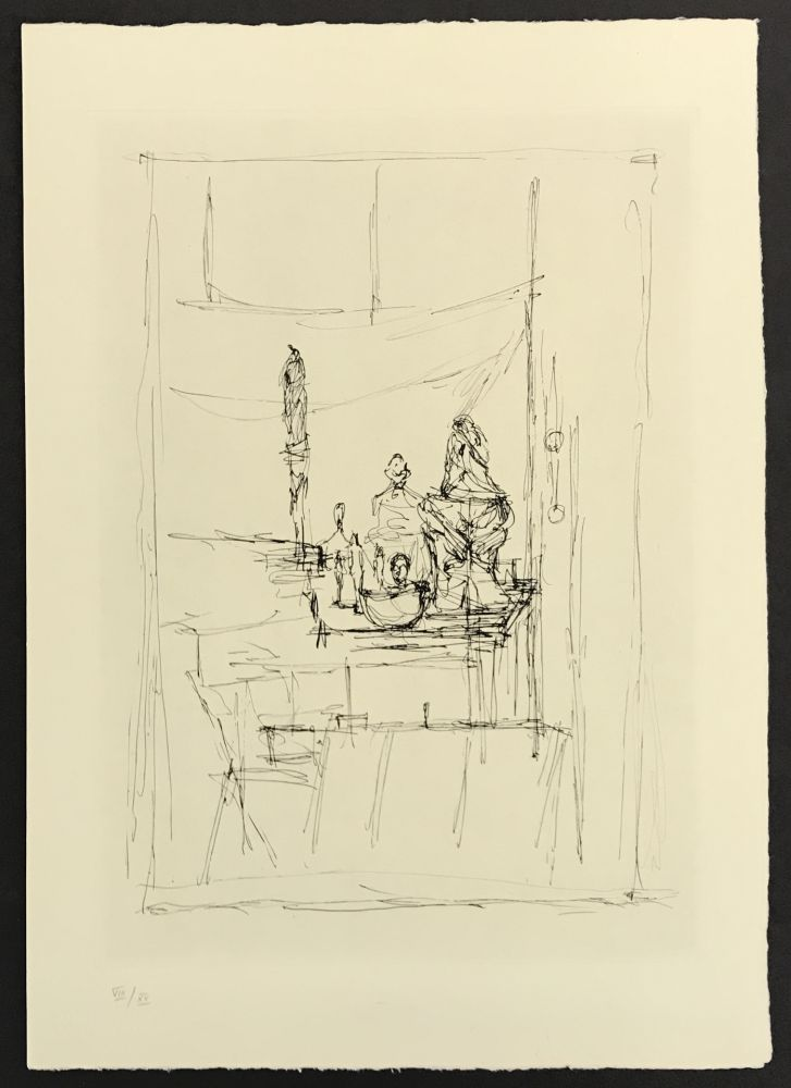 Etching Giacometti - Studio from La Magie Quotidienne