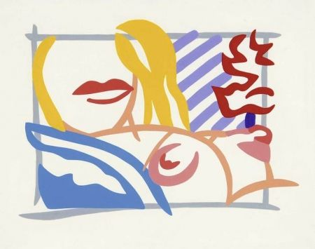 Lithograph Wesselmann - Study for Bedroom Blonde with Lavender Wallpaper