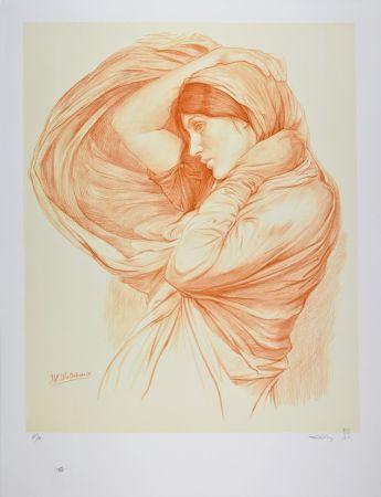 Lithograph Waterhouse - Study for Boreas, 1904