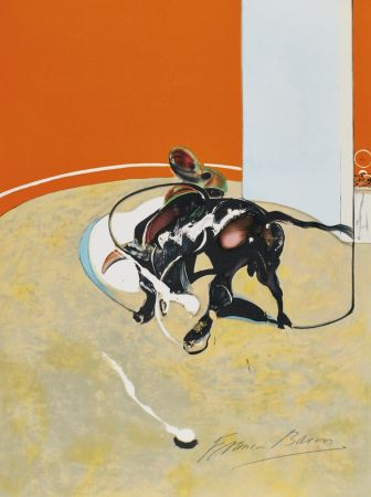 Lithograph Bacon - Study for bullfight, n° 3