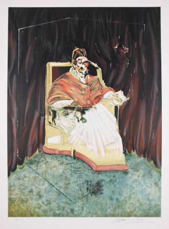 Lithograph Bacon - Study for Portrait of Pope Innocent X after Velasquez