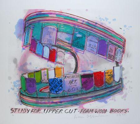 Lithograph Oppenheim - Study for upper cut