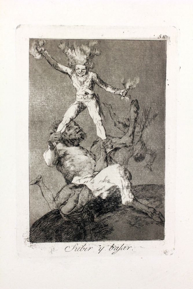 Etching And Aquatint Goya - Subir y bajar