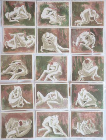 Lithograph Schilling - Suite érotique