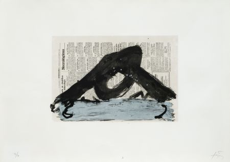 Lithograph Tapies - Suite 63 X 90 (No 7)