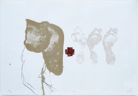 Lithograph Tapies - Suite 63 X 90 (No 9)