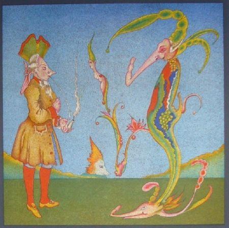 Lithograph Chemiakin - Suite Carnaval de Saint Petersbourg 11