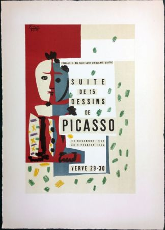 Lithograph Picasso - SUITE DE 15 DESSINS. VALLAURIS 1954. Titre du tirage de luxe.