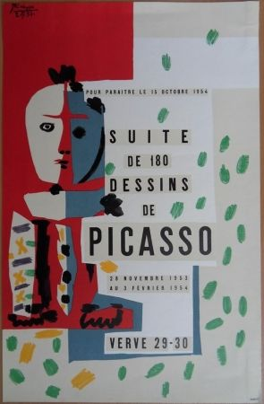Lithograph Picasso - Suite de 180 dessins - Verve 29/30