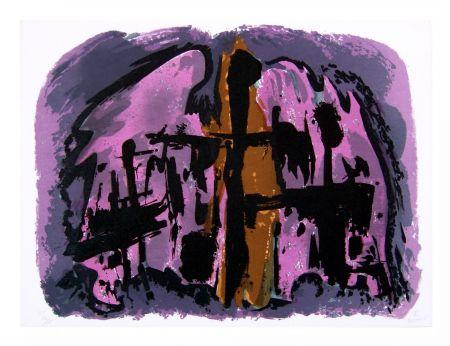 Lithograph Manessier - Suite de Pâques