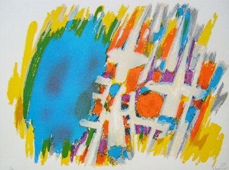 Lithograph Manessier - Suite de Pâques, Le message de l'ange